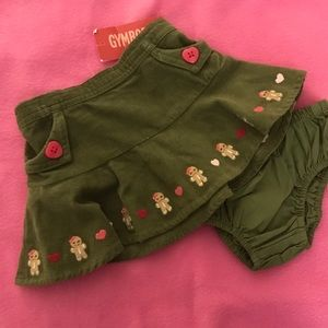 Gymboree Gingerbread Girl Skirt with Diaper Cover